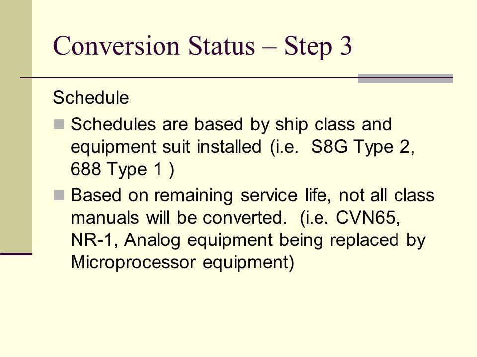 Conversion Status – Step 3