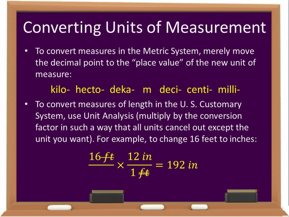 Converting Units of Measurement