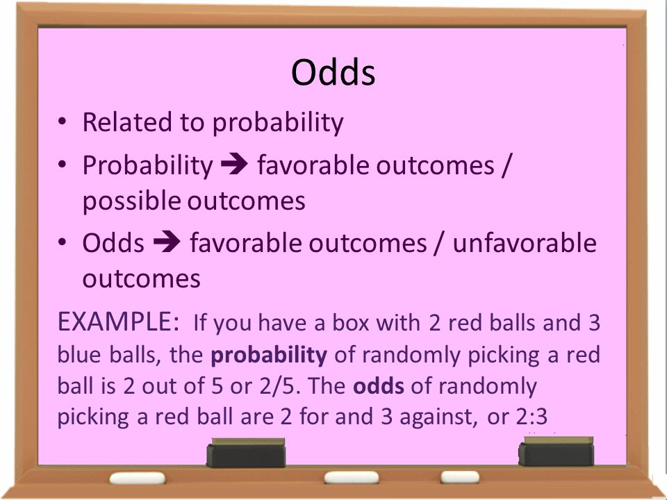 Odds Related to probability