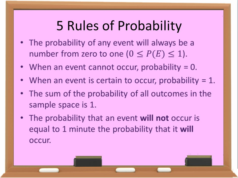 5 Rules of Probability