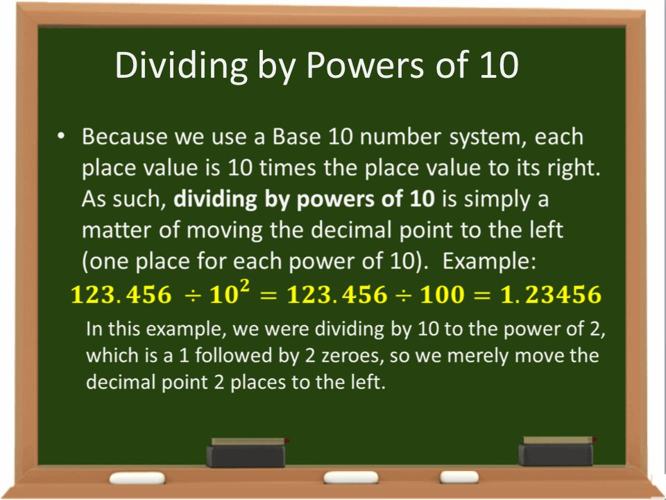 Dividing by Powers of 10