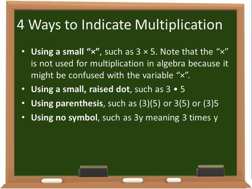 4 Ways to Indicate Multiplication