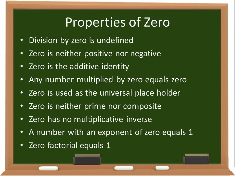 Properties of Zero Division by zero is undefined
