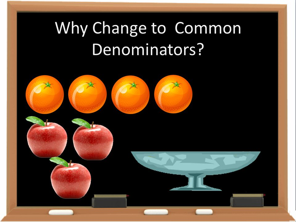 Why Change to Common Denominators