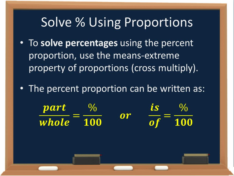 Solve % Using Proportions