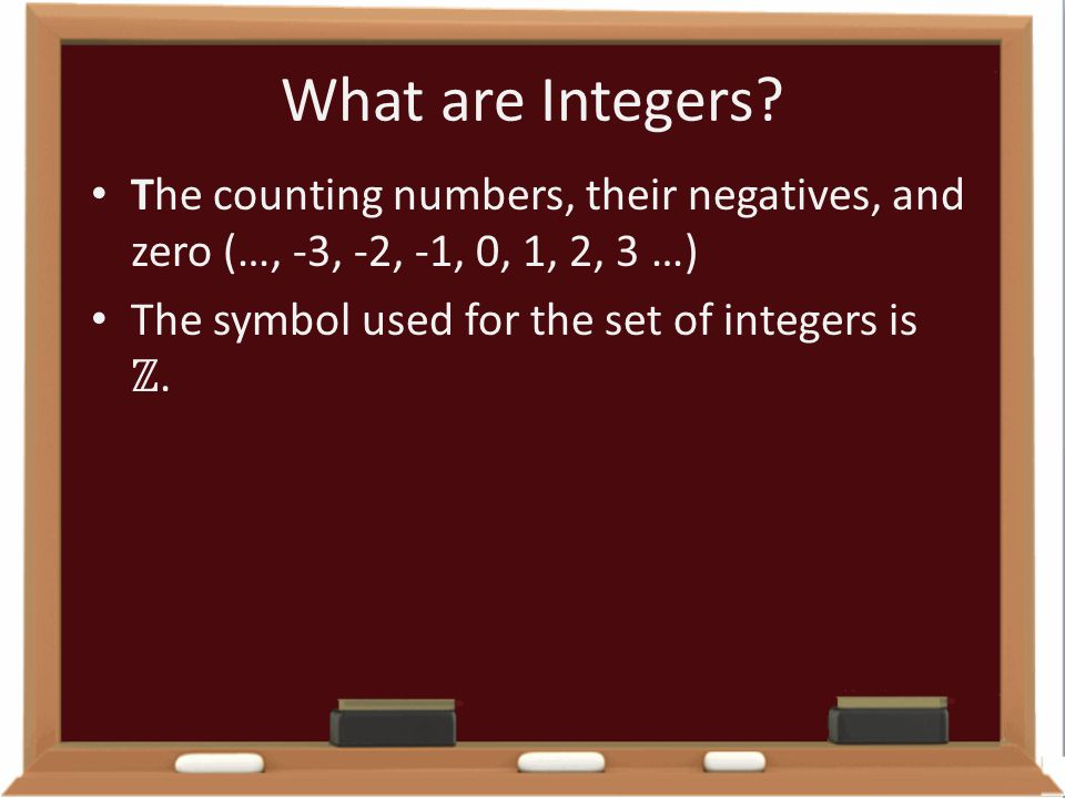 What are Integers.