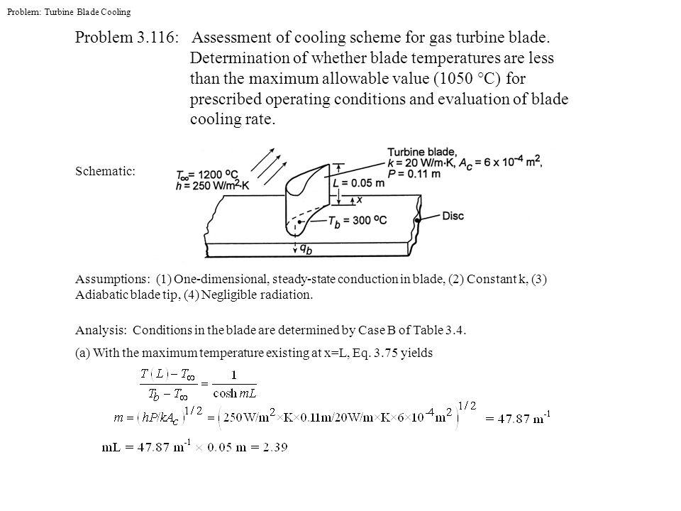 Problem: Turbine Blade Cooling