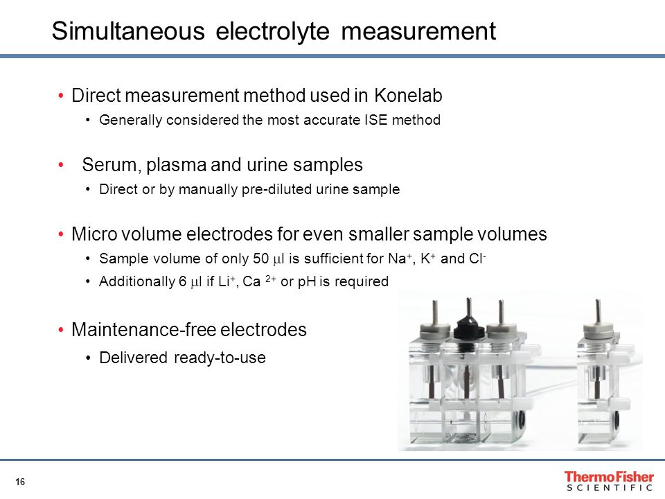 Simultaneous electrolyte measurement