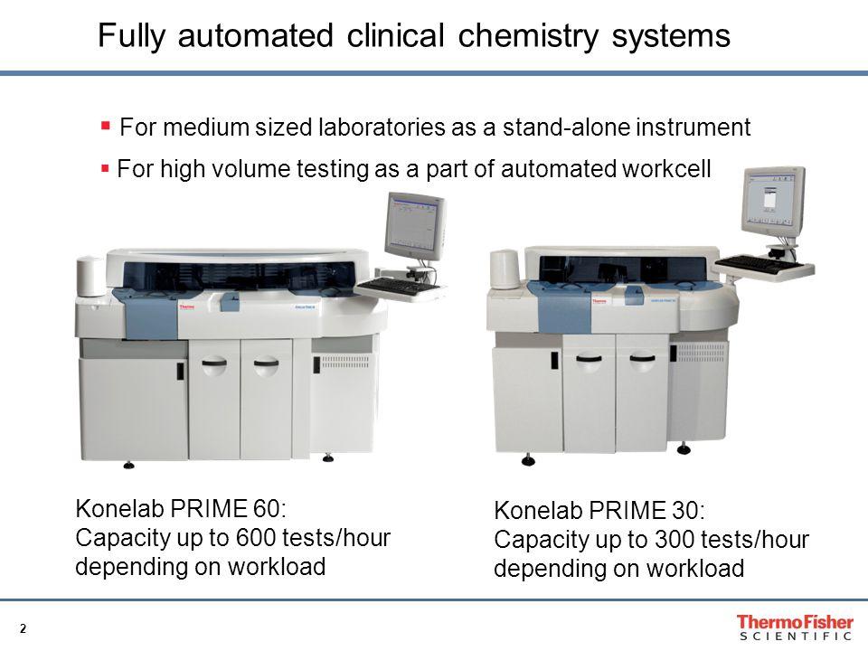 Fully automated clinical chemistry systems