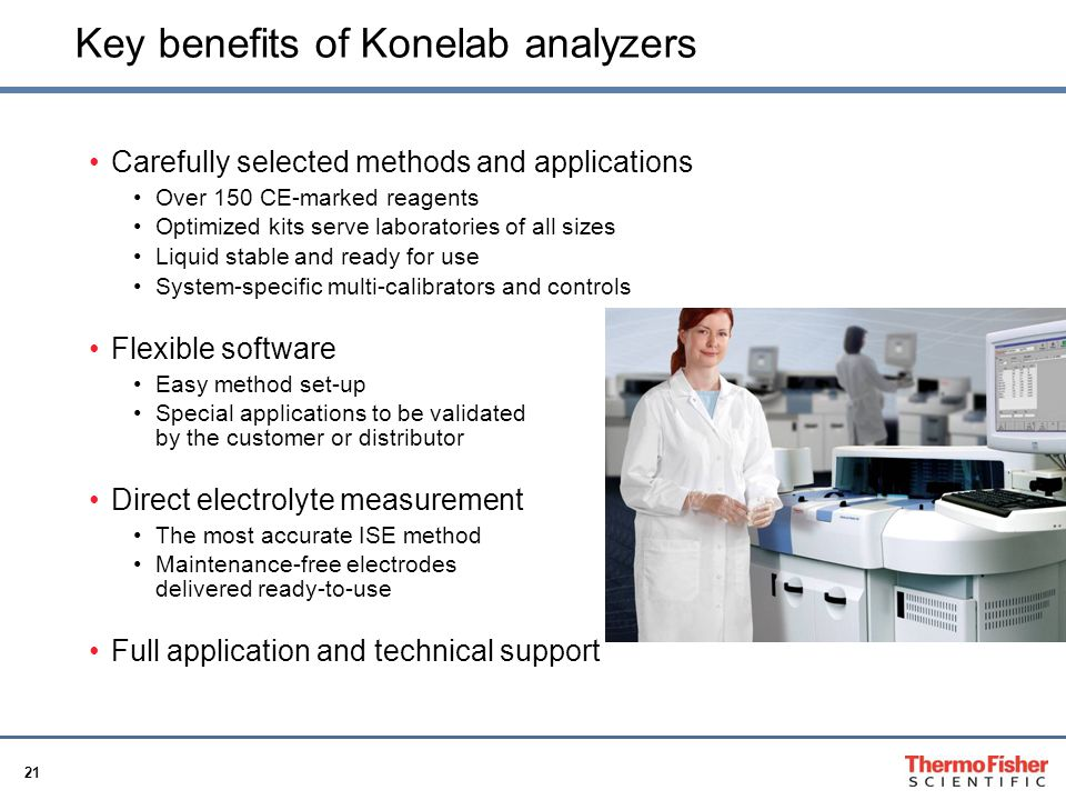 Key benefits of Konelab analyzers