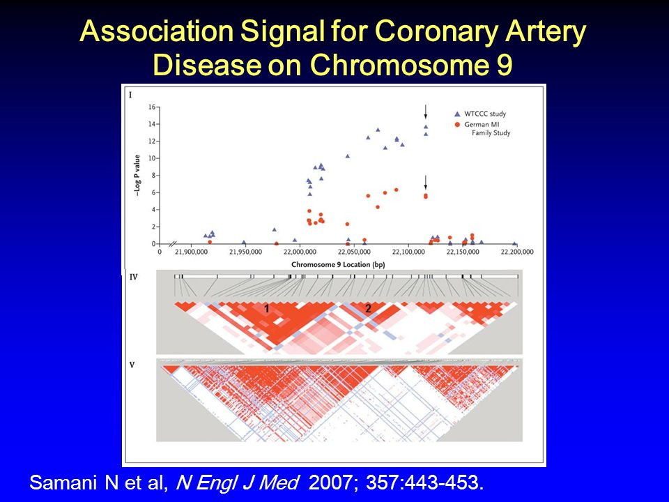 Association Signal for Coronary Artery Disease on Chromosome 9