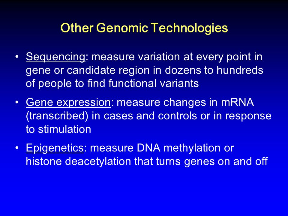 Other Genomic Technologies