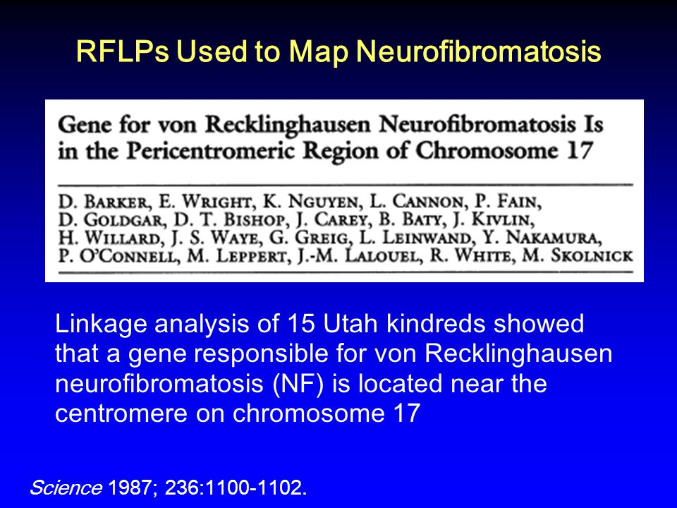 RFLPs Used to Map Neurofibromatosis
