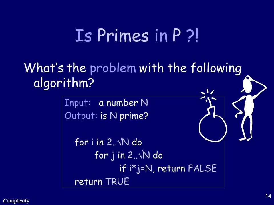 Is Primes in P ! What's the problem with the following algorithm