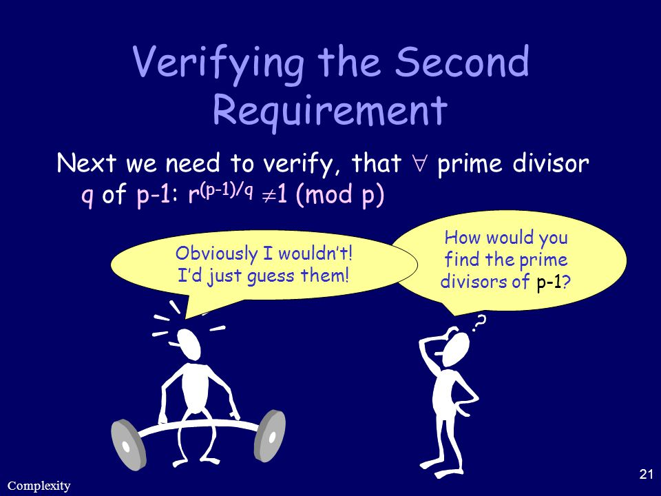 Verifying the Second Requirement