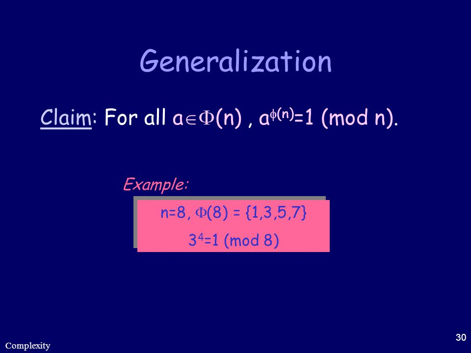 Generalization Claim: For all a(n) , a(n)=1 (mod n). Example: