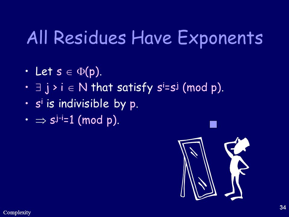 All Residues Have Exponents
