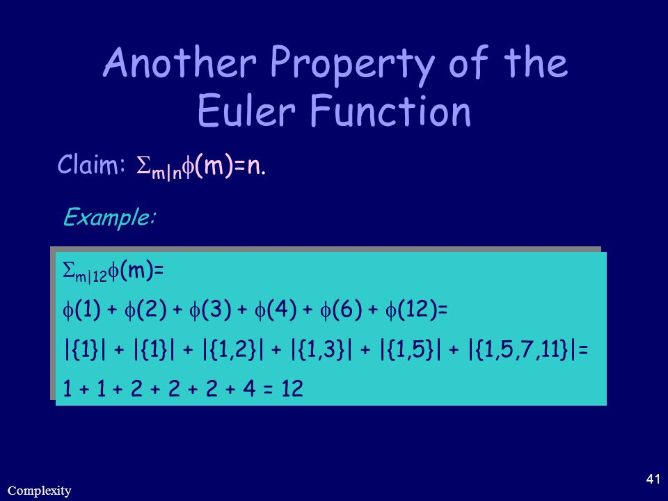 Another Property of the Euler Function