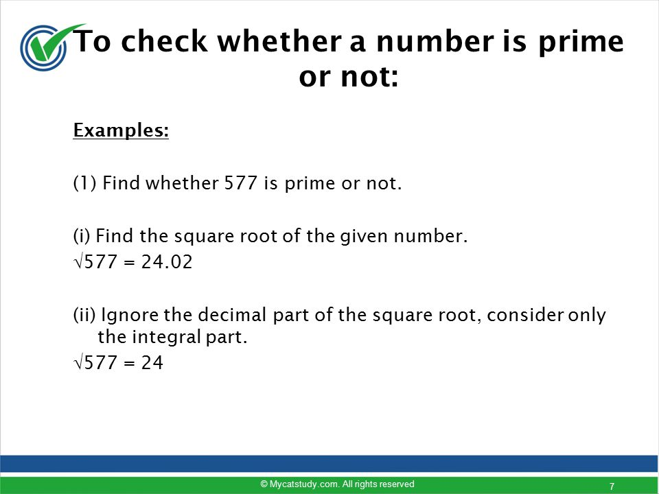 prime check Note: there is a limit to how big of a number you can check, depending on your browser, and operating system when calculating prime numbers larger than.