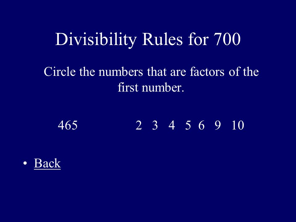 Divisibility Rules for 700