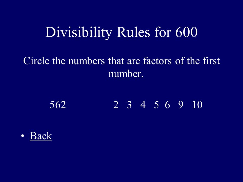 Divisibility Rules for 600
