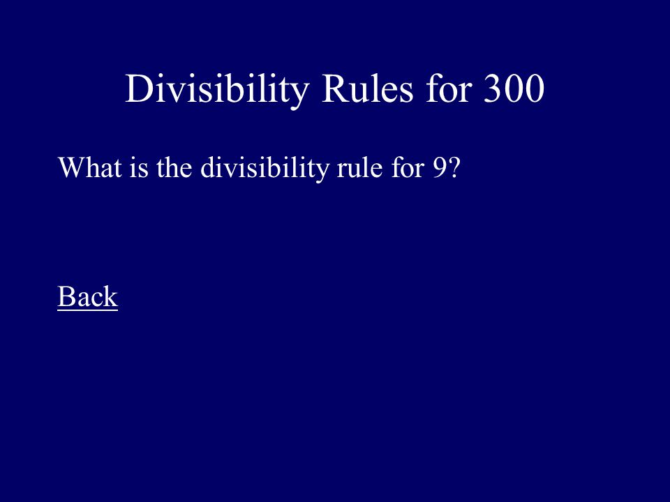 Divisibility Rules for 300