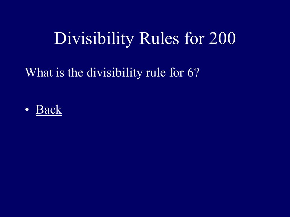 Divisibility Rules for 200