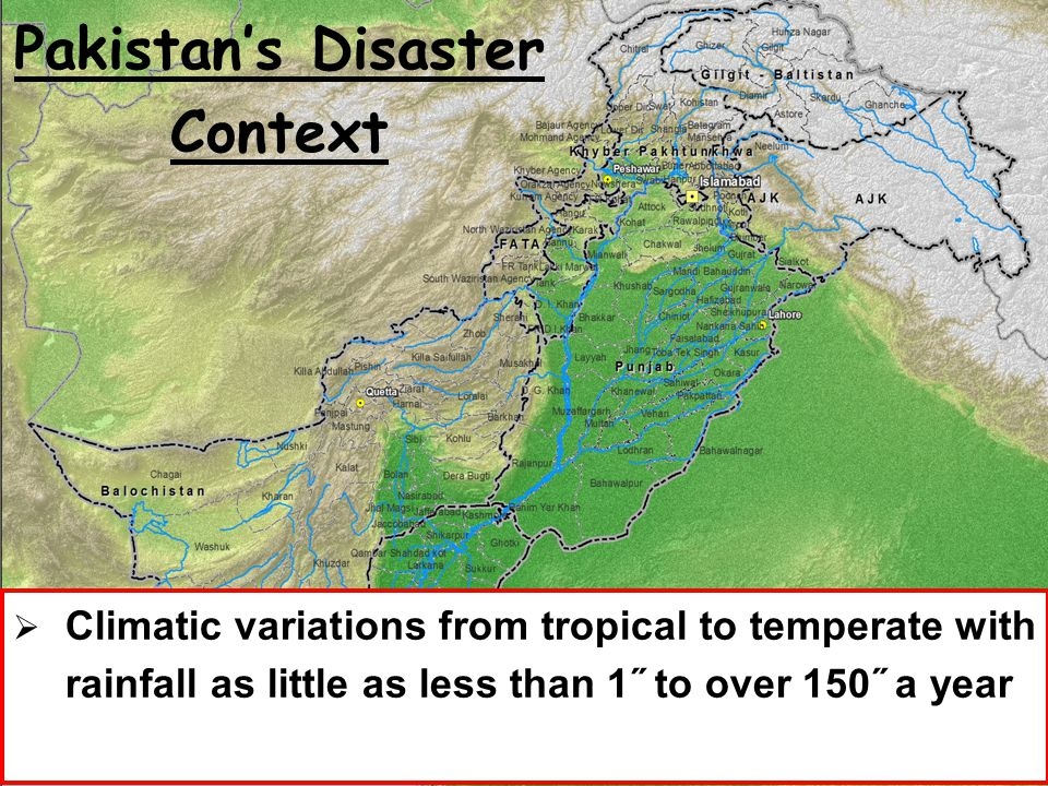 Pakistan's Disaster Context