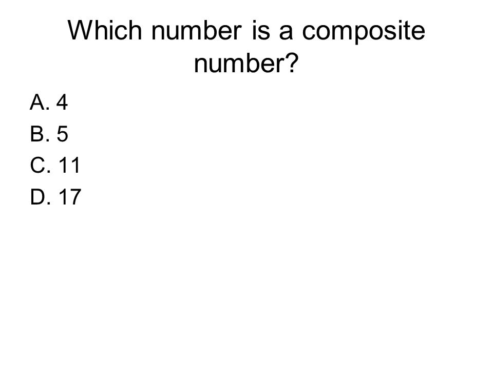 Which number is a composite number
