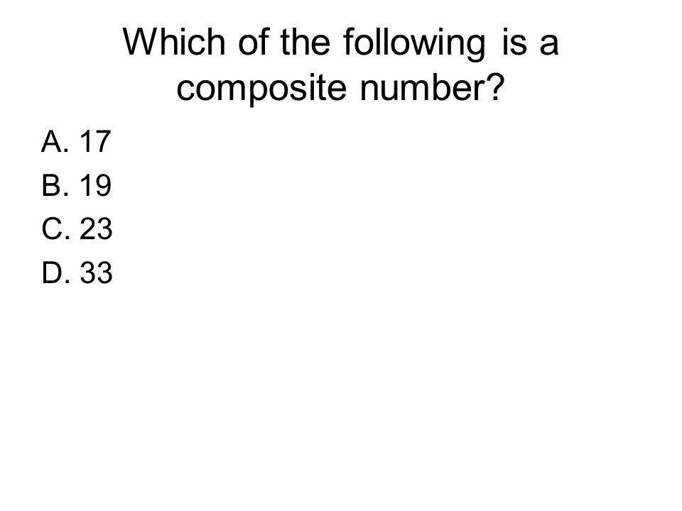 Which of the following is a composite number