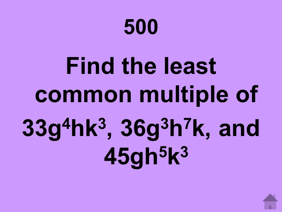 Find the least common multiple of