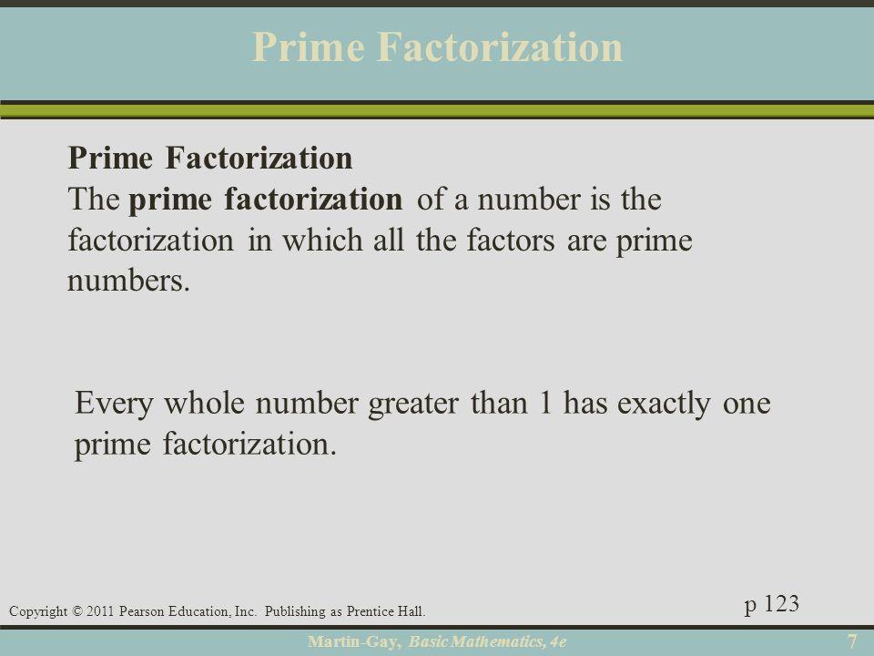 Prime Factorization Prime Factorization