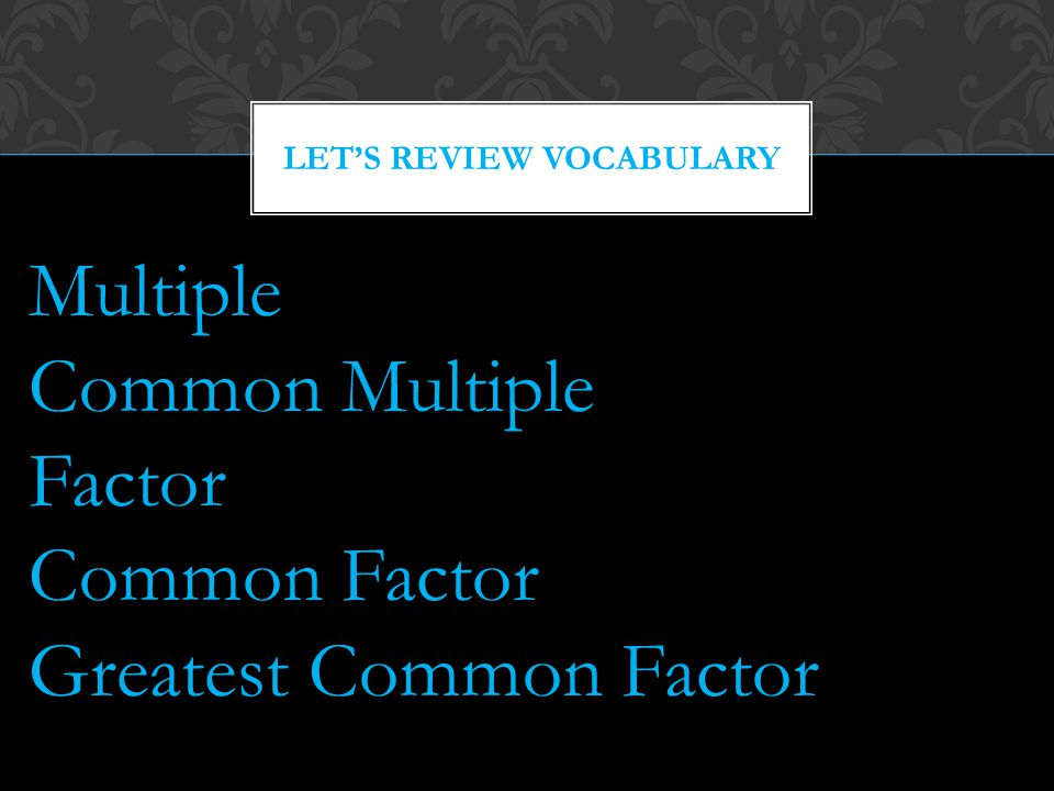 Let's Review Vocabulary
