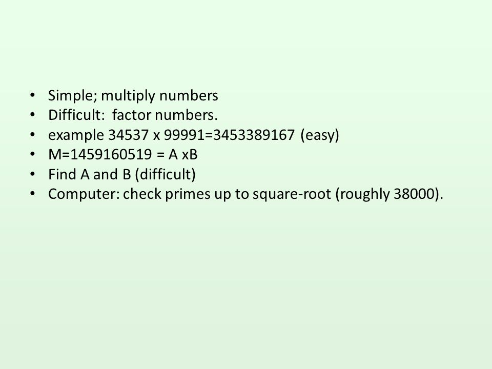 Simple; multiply numbers