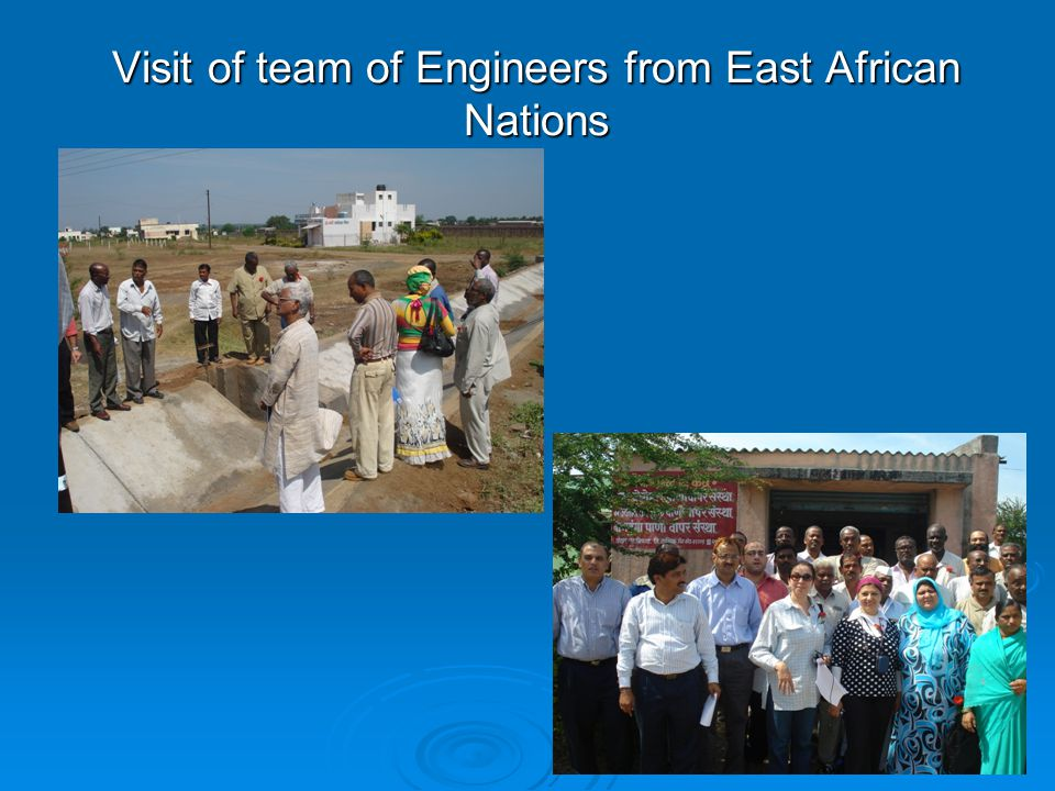 Visit of team of Engineers from East African Nations