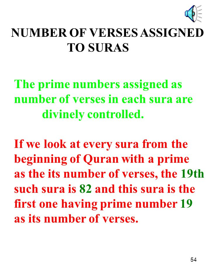 NUMBER OF VERSES ASSIGNED