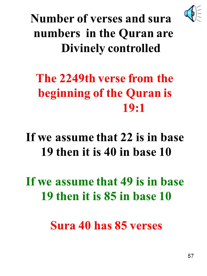Number of verses and sura numbers in the Quran are Divinely controlled