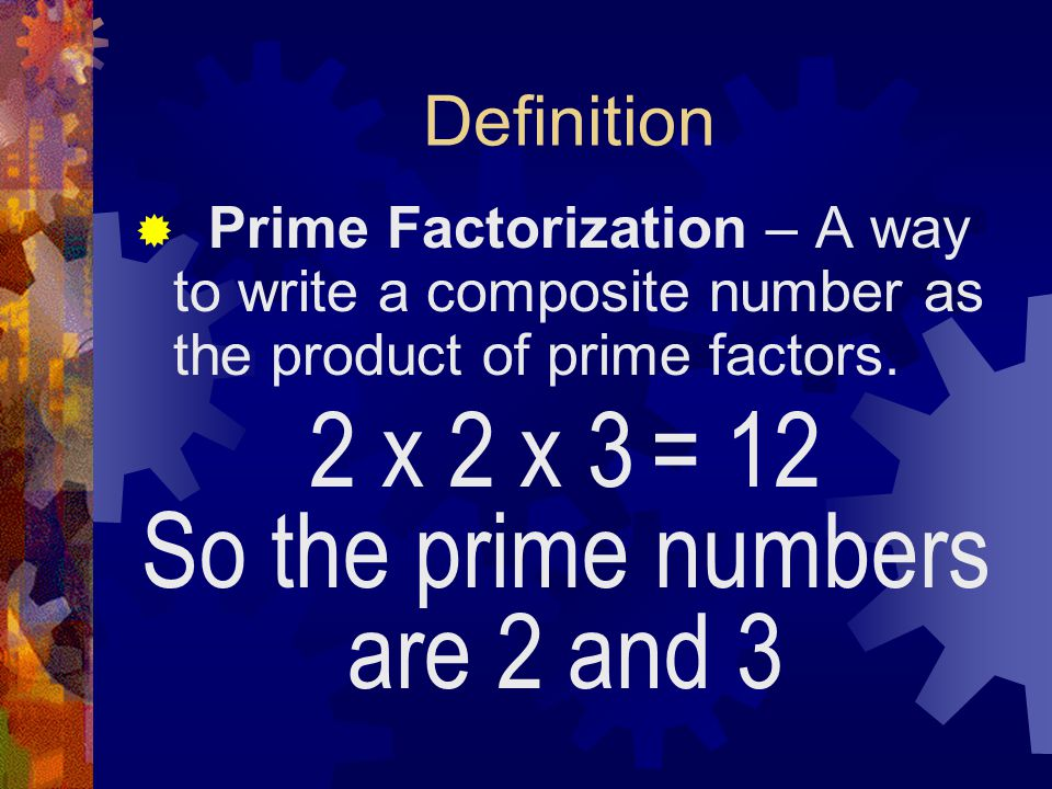 So the prime numbers are 2 and 3