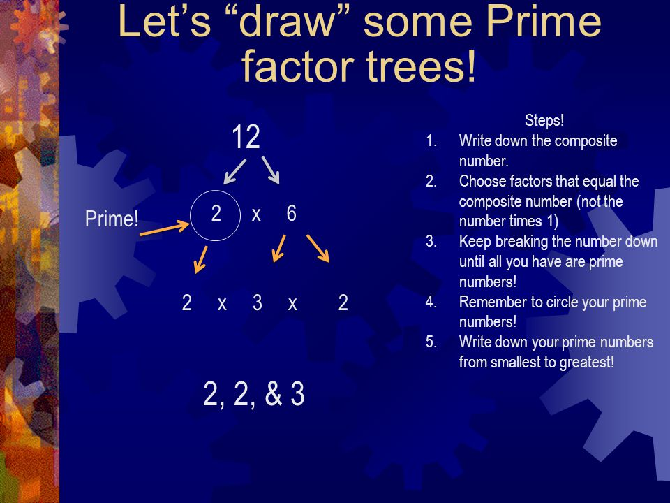 Let's draw some Prime factor trees!