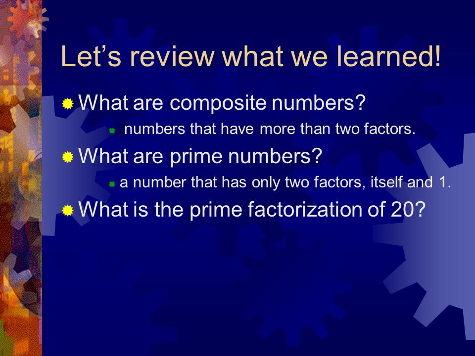 Let's review what we learned!