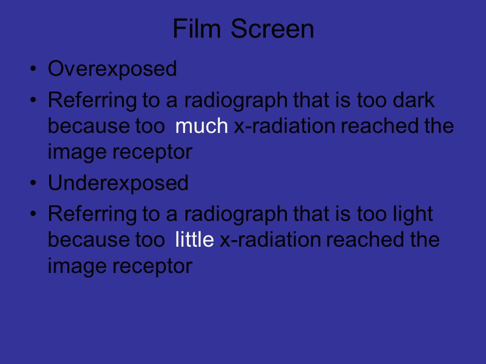 Film Screen Overexposed