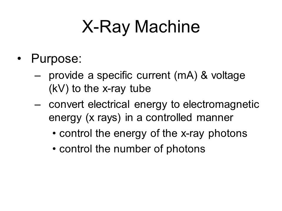 X-Ray Machine Purpose: