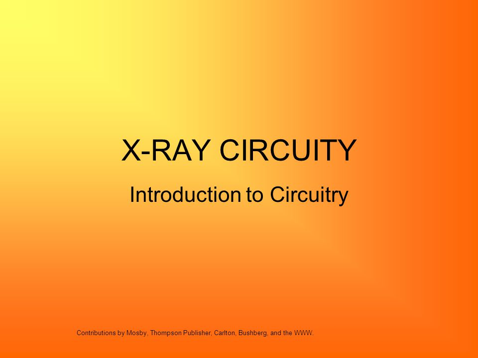 Introduction to Circuitry
