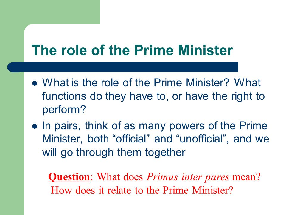 Prime Minister and the Cabinet - ppt download