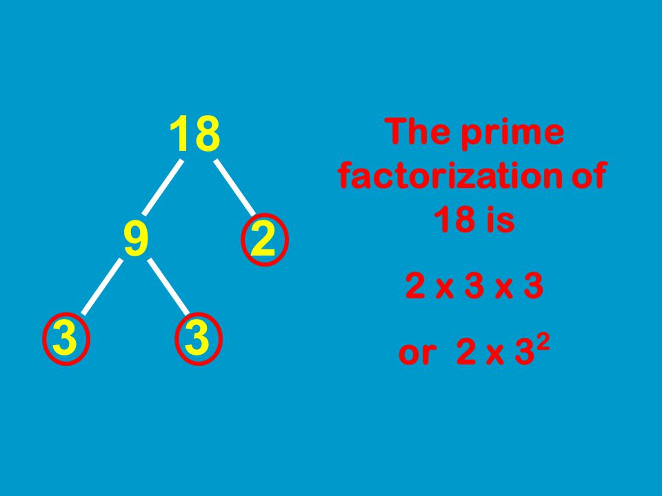 The prime factorization of 18 is
