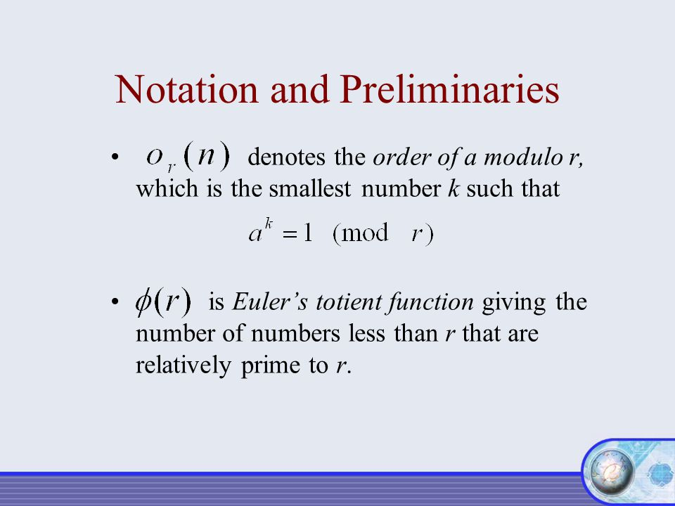 Notation and Preliminaries