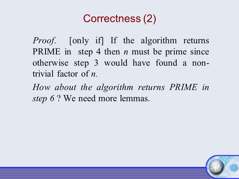 Correctness (2)