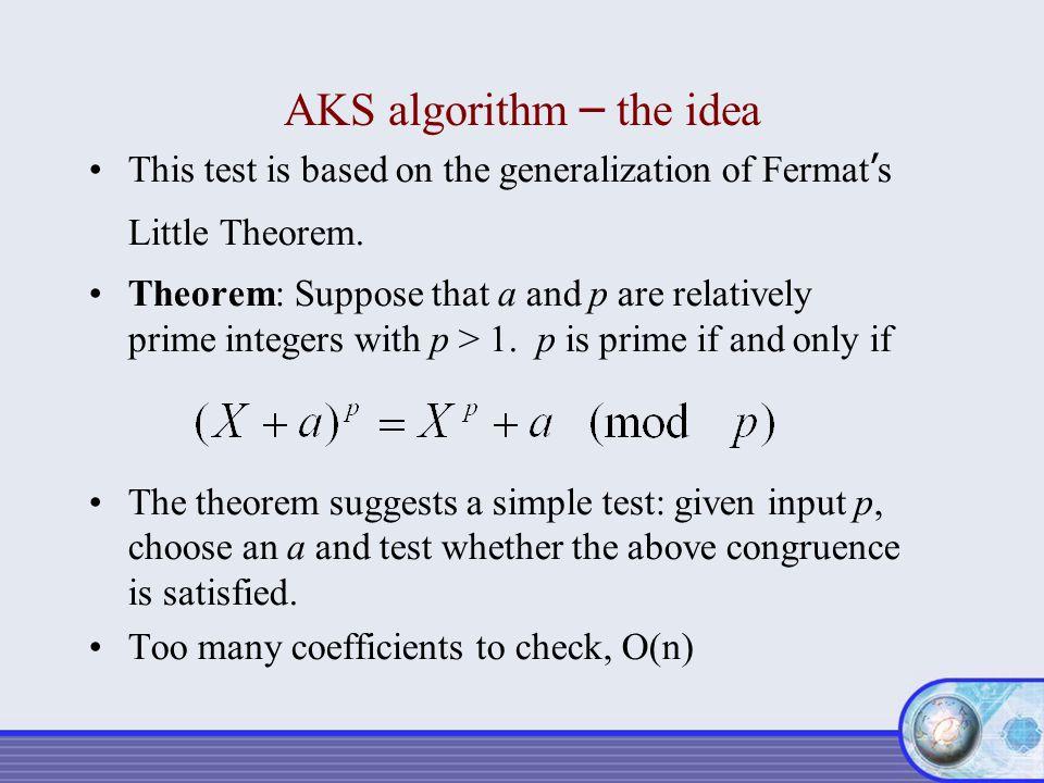 AKS algorithm – the idea