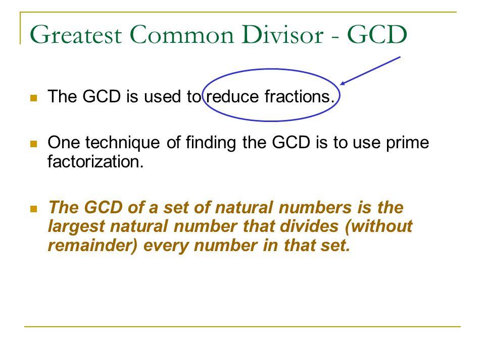 Greatest Common Divisor - GCD