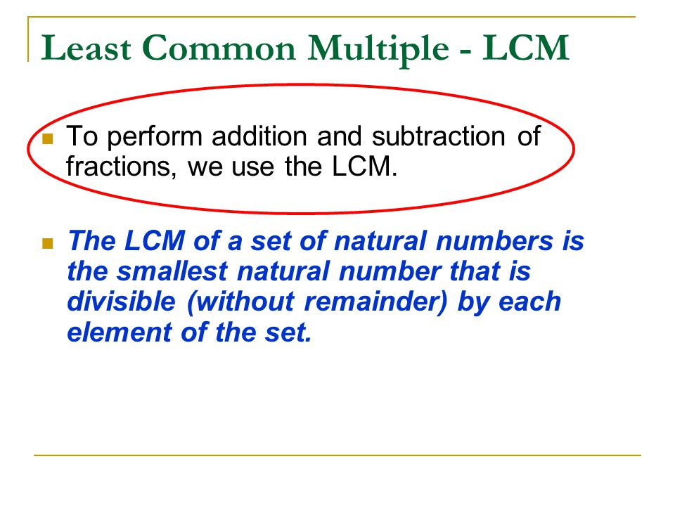 Least Common Multiple - LCM